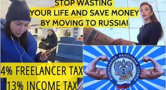 Russia Is Income Tax Paradise - Self-Employed Pay Flat 4%, Others, Flat 10% (Russian TV News)
