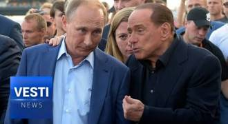 Putin - Berlusconi Bromance Strong as Ever, a Chummy Meeting in Italy (Russian TV News)