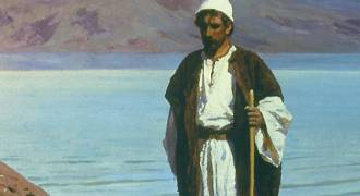 GREAT RUSSIAN ART - 'At the Sea of Galilee' (Vasily Polenov, 1888)
