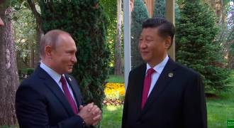 Watch Putin Celebrating Xi's Birthday, Very Informal and Great Insight Into Their Bromance (Russian TV News)