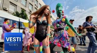Revolting Footage of Kiev Sodomy-Pride Parade Grosses Out Russians (Russian TV News)