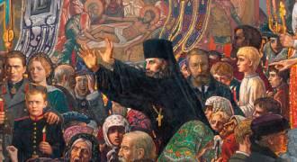 GREAT RUSSIAN ART - 'Destroying the Church on Easter Eve' (Ilya Glazunov, 1999)