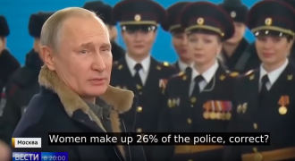 Putin Tells a Joke to Beautiful Russian Policewomen: What Do Women Need to Stay Fit?