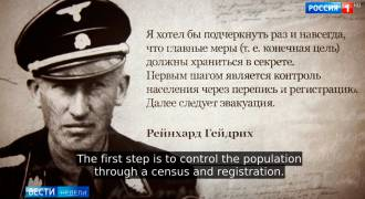 Head of IBM Sympathized with Hitler, Conducted Census of Jews in Preparation for Camps. (Russian TV News)