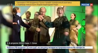 Putin's Greatest Hits, 20 Yr Compilation Video from Kremlin, Including Folk Dancing with George Bush II
