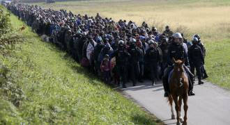 'Refugees -- brought to you by Vladimir Putin' - End of NATO transmission