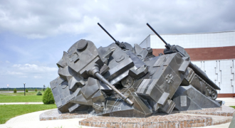 An Amazing War Memorial At Site of Biggest Tank Battle Ever (Kursk Battle)