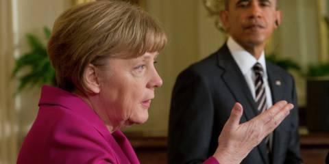 President Barack Obama (right) and German Chancellor Angela Merkel