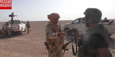 A Russian advisor embedded with the advancing Syrian forces