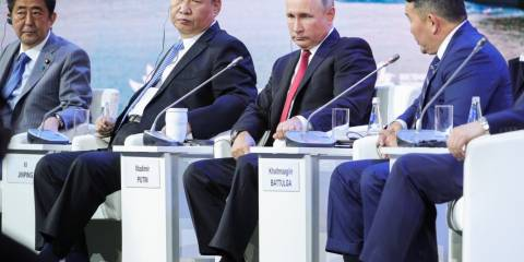 Japan's Abe Made a Mighty Fool of Himself at Russia's Eastern Economic Forum