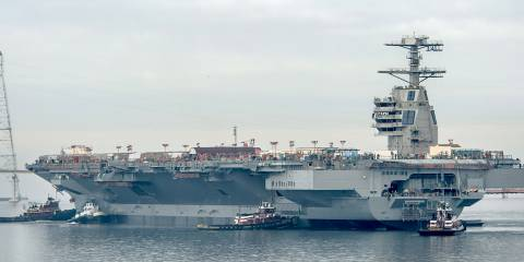 "USS Gerald R. Ford: ""At least it floats"""