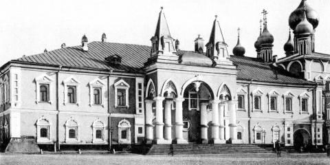 Das von den Bolschewiks zerstörte Tschudow-Kloster im Kreml wird wieder aufgebaut