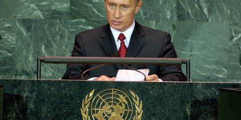 Владимир Путин выступал на сессиях Генассамблеи ООН в 2000, 2003 и 2005 годах