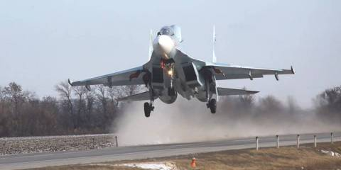 WATCH: Russian Warplanes Practice Landing on a Road