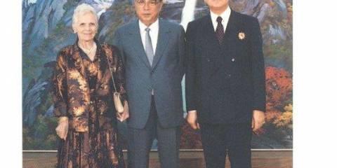 Kim Il Sung with Giancarlo Elia Valori and Signora Emilia Marinelli