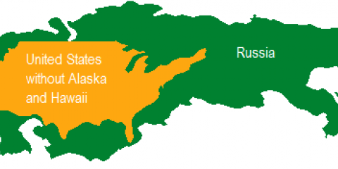Russia Vs Us Size Comparison Map