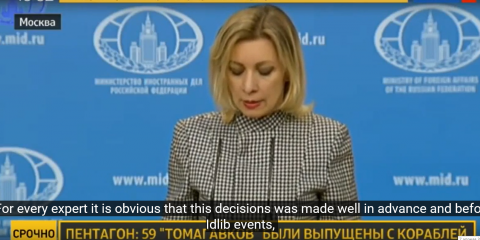 In a statement from this morning, Maria Zakharova said that the US was already planning escalation in Syria