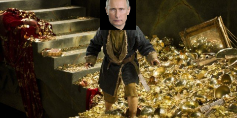 Putin inspects his treasures