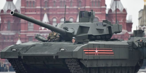 An Armata on Red Square. Why is Russia parking its tanks so close to NATO military bases?