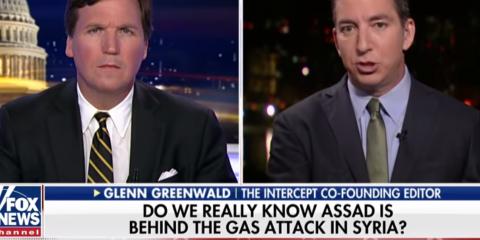 Carlson and Greenwald Blast Media for Headlong Rush to War (Video)
