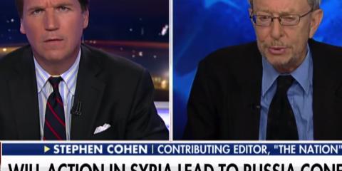 Tucker Carlson Blasts Syria Bombing AGAIN, Hosts Stephen Cohen: 'Americans Will DIE!'