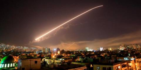 BREAKING: US Bombs Damascus, Syrians Firing Back, First Civilian Casualties Reported