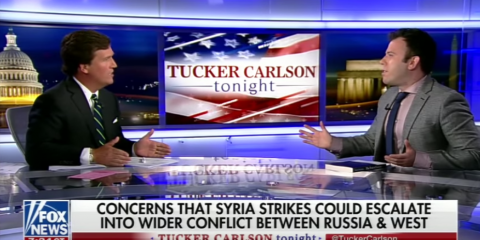 Tucker Carlson Returns to Criticize Syria Bombing, Debates Professional Liar Jamie Kirchik