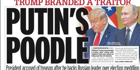 Trump Branded 'Putin's Poodle' by Media, Accused of 'Treason'