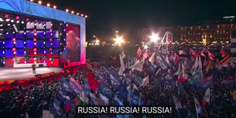 BREAKING: Putin Gives Fiery Election Victory Speech in Front of Kremlin (Video)