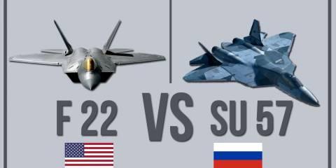 What Happens If America's F-22 Battled Russia's Su-57