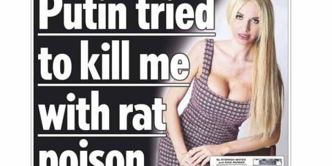 Putin Has Run Out of Novichok and Is Now Poisoning Ageing Models in Salisbury With Rat Poison