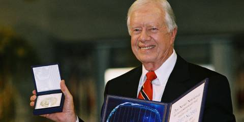 Jimmy Carter is world-famous for bringing peace and understanding to the Middle East