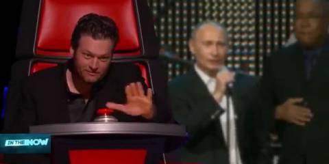 Путин принял участие в слепом прослушивании шоу