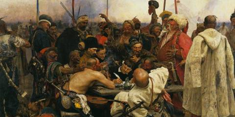 The times when Ukrainian Cossacks wrote insulting letters to Sultan defying his authority as on this painting by famous Russian artist Ilya Repin, are long gone