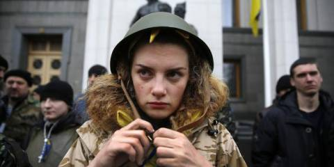 A Maidan protester. Now a soldier?