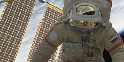 Russian Cosmonaut still in the flesh