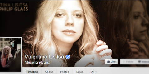 That's how Valentina's facebook page looks