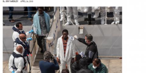 В трагедии средиземноморских беженцев виновато НАТО. Но в СМИ об этом молчок