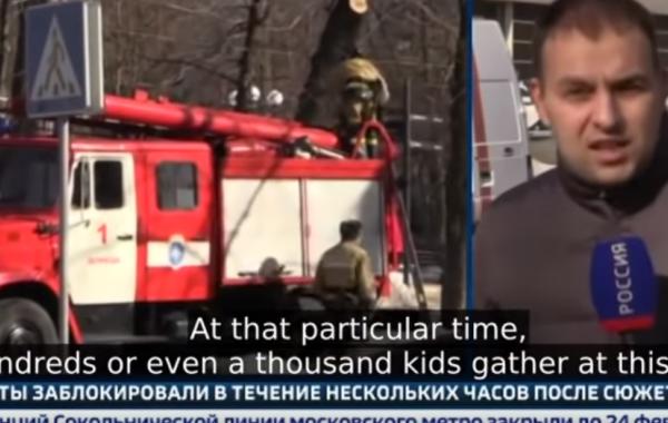 BREAKING: Ukrainian Drone Drops Bombs in Downtown Donetsk Near School, Miraculously, No Casualties (Russian TV News)