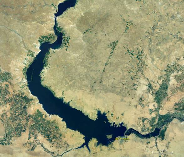 The mighty lake as seen from space