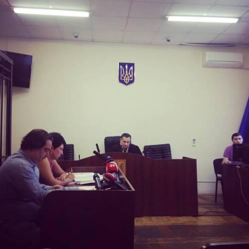 Igor Guzhva in court in Kyiv