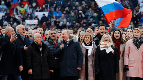Enormous Crowd Packs Moscow Stadium To Sing Russian Anthem With Vladimir Putin Western Media Heads Explode Russian Insight