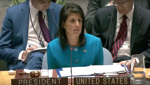 Israeli UN Ambassador Nikki Haley