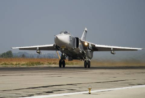 Russian Su-24 Strike Jet Crashes During Takeoff in Syria, Crew Killed