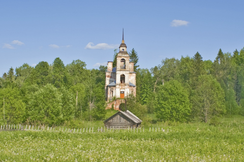 A Treasure of Old Christian Paintings in a Russian Church in a Remote Forest