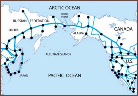 The China-Russia-Canada-America Train / Tunnel Link? on