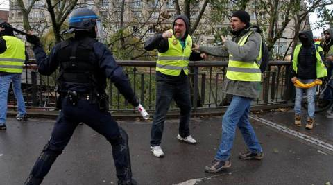 France, Week 13: Protestor's Hand Blown Off by Police Grenade