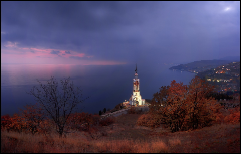 The Lighthouse-Church of Saint Nicholas the Wonderworker in Malorichensk, Southern Crimea
