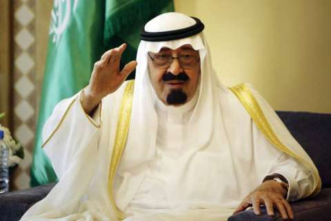 King Abdullah, the ailing monarch of Saudi Arabia whose country is playing a power game with its oil