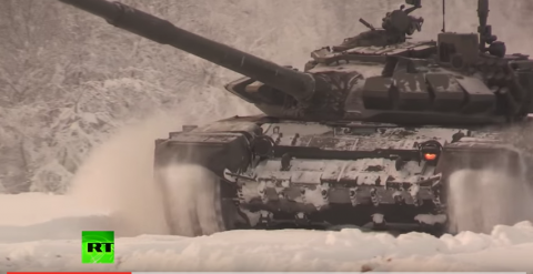 Let 'em Roll - Russian 'Tank Biathalon' Held in Arctic North